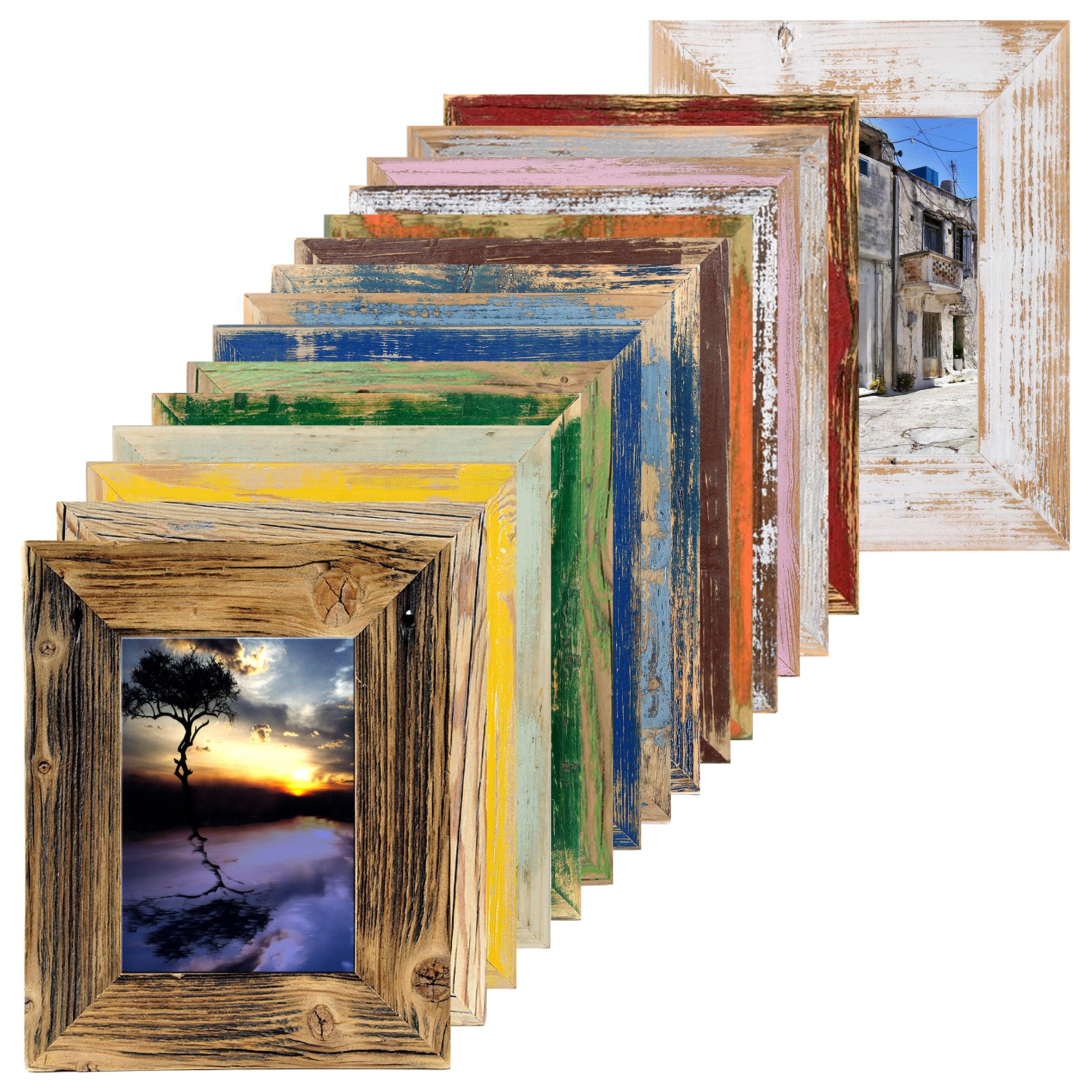 Détails sur Bois Cadre Maison de Campagne Rustique Vintage Alt-Holz Moderne  Affiche Din - CM